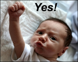 Yes Baby Fist Pump