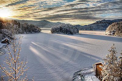 norway fjerda snowy landscape