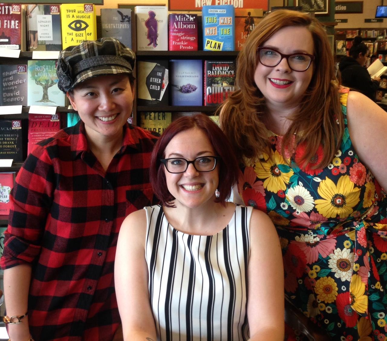 VE Schwab trio of authors