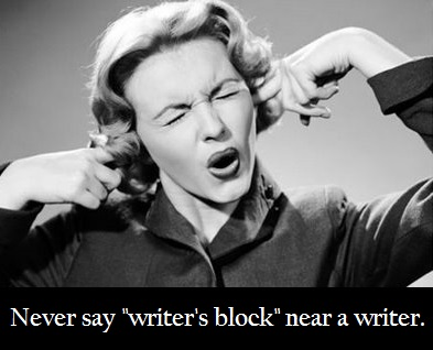Never say writer's blog pic