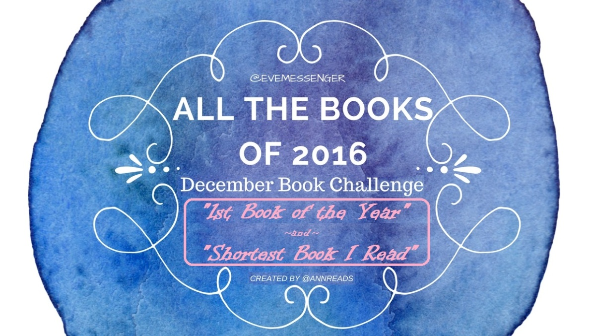 December Book Challenge: Days 1 and 2 #amreading